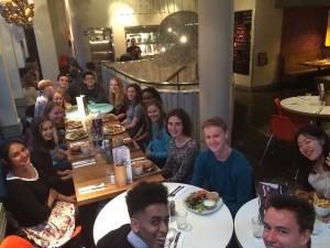 NatSci Freshers dinner at Giraffe